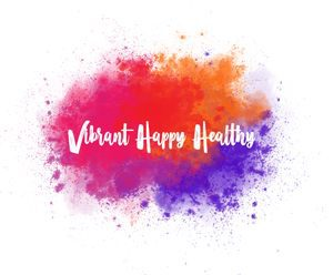 vibrant happy healthy logo