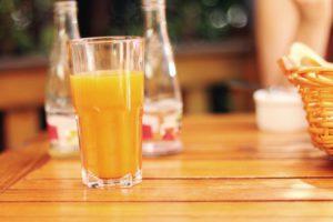 Orange Juice In a Restaurant