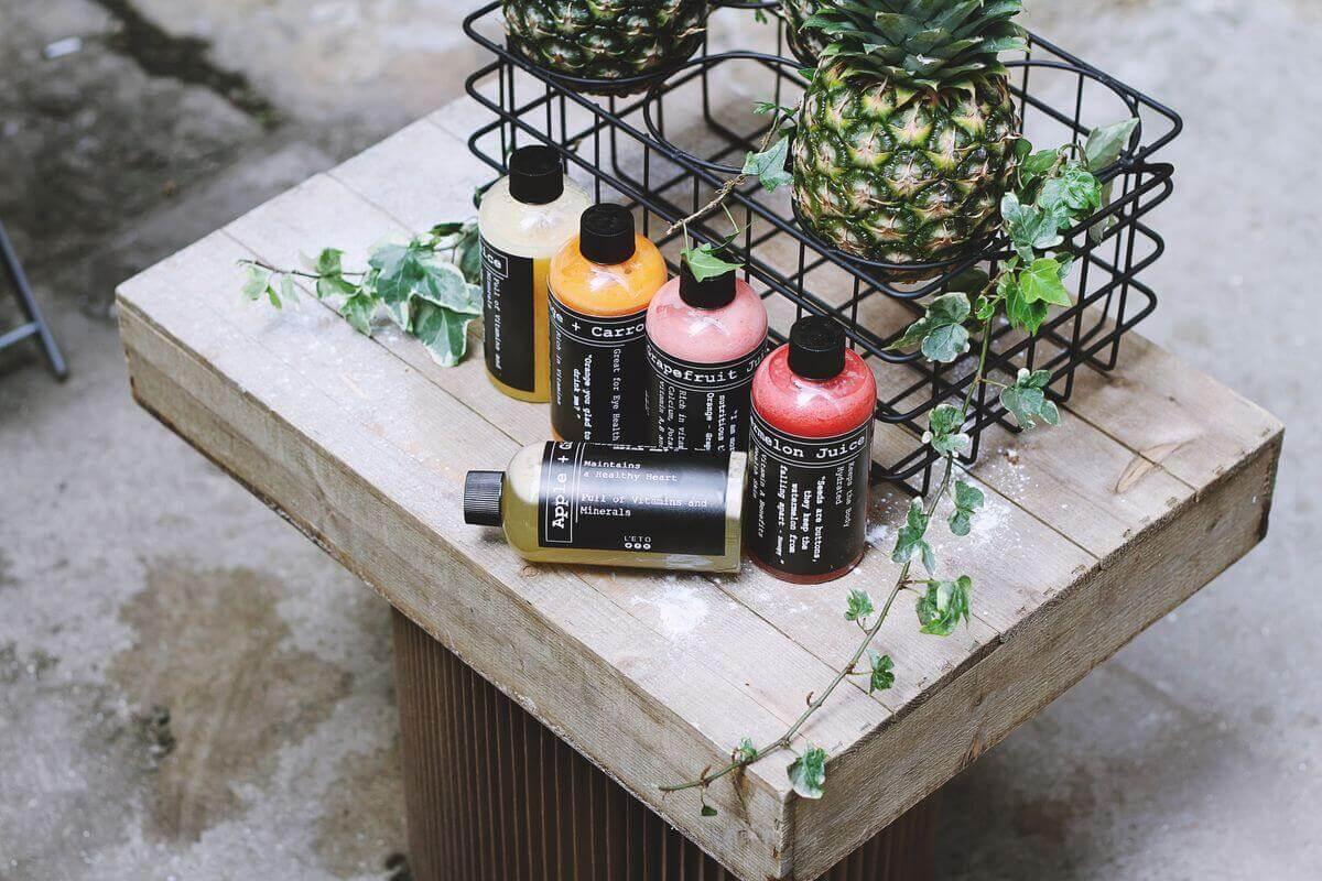 5 Fresh Juice Bottles