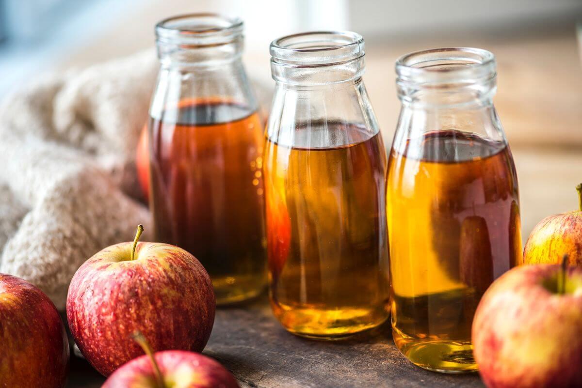 Apple Juice in Bottles