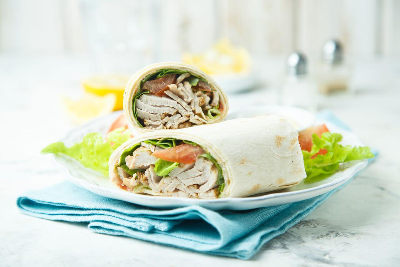 Cold Chicken Wraps