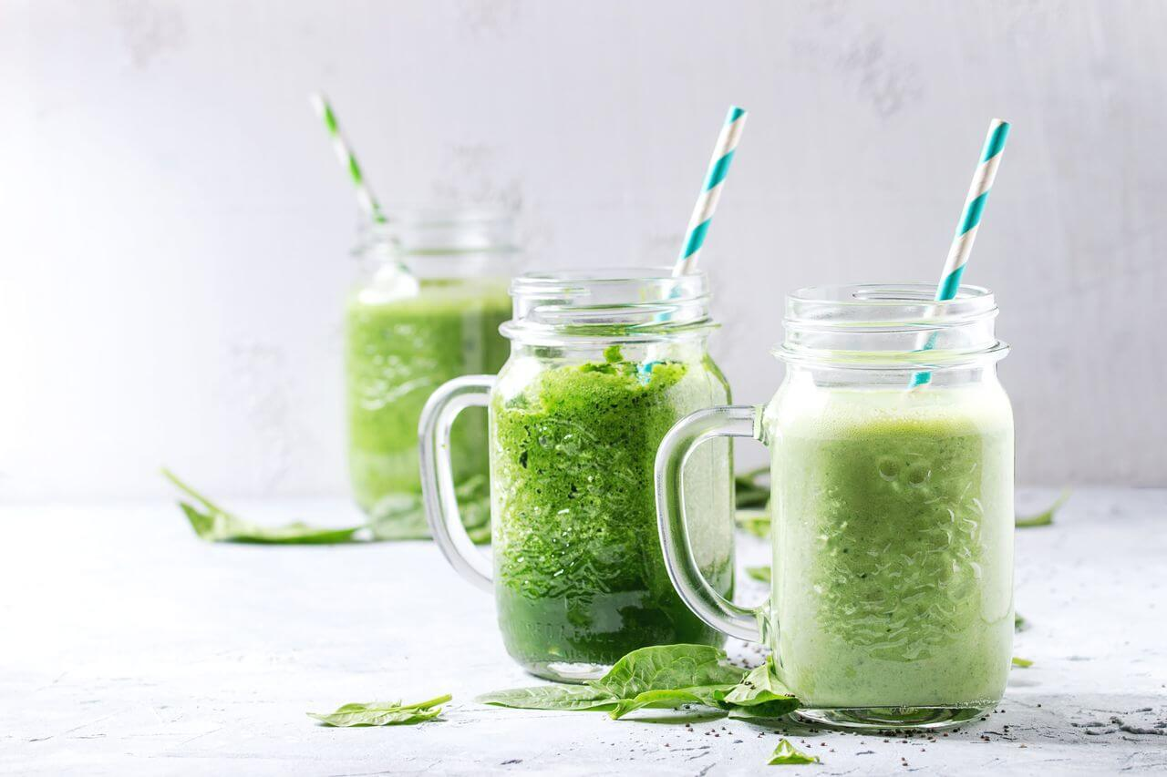 Smoothies on a Table