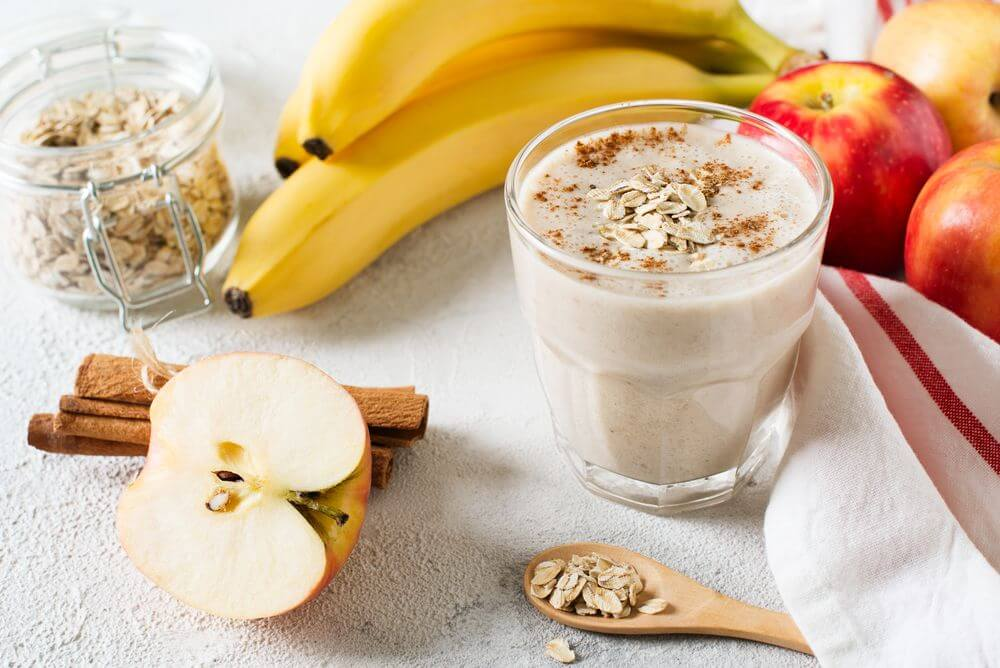 Apple Banana Almond Milk Smoothie