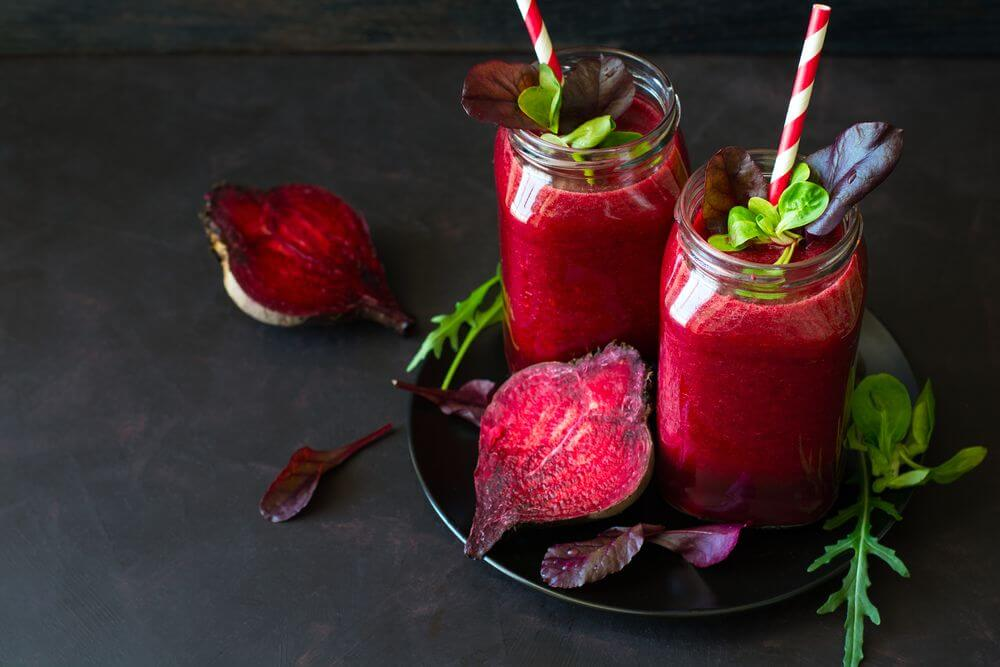 Beetroot Almond Milk Smoothie