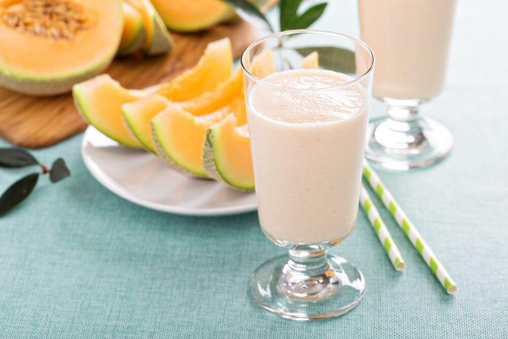 Cantaloupe Almond Milk Smoothie