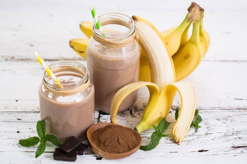 Chocolate Banana Almond Milk Smoothie