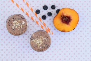 Peach Blueberry Ninja Smoothie