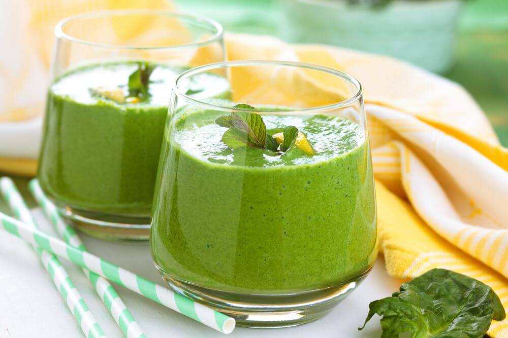 Spinach Banana Almond Milk Smoothie