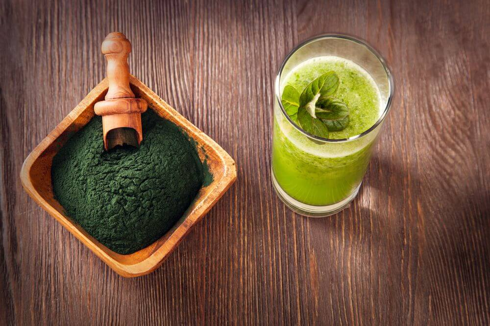 Spirulina Wheatgrass Smoothie