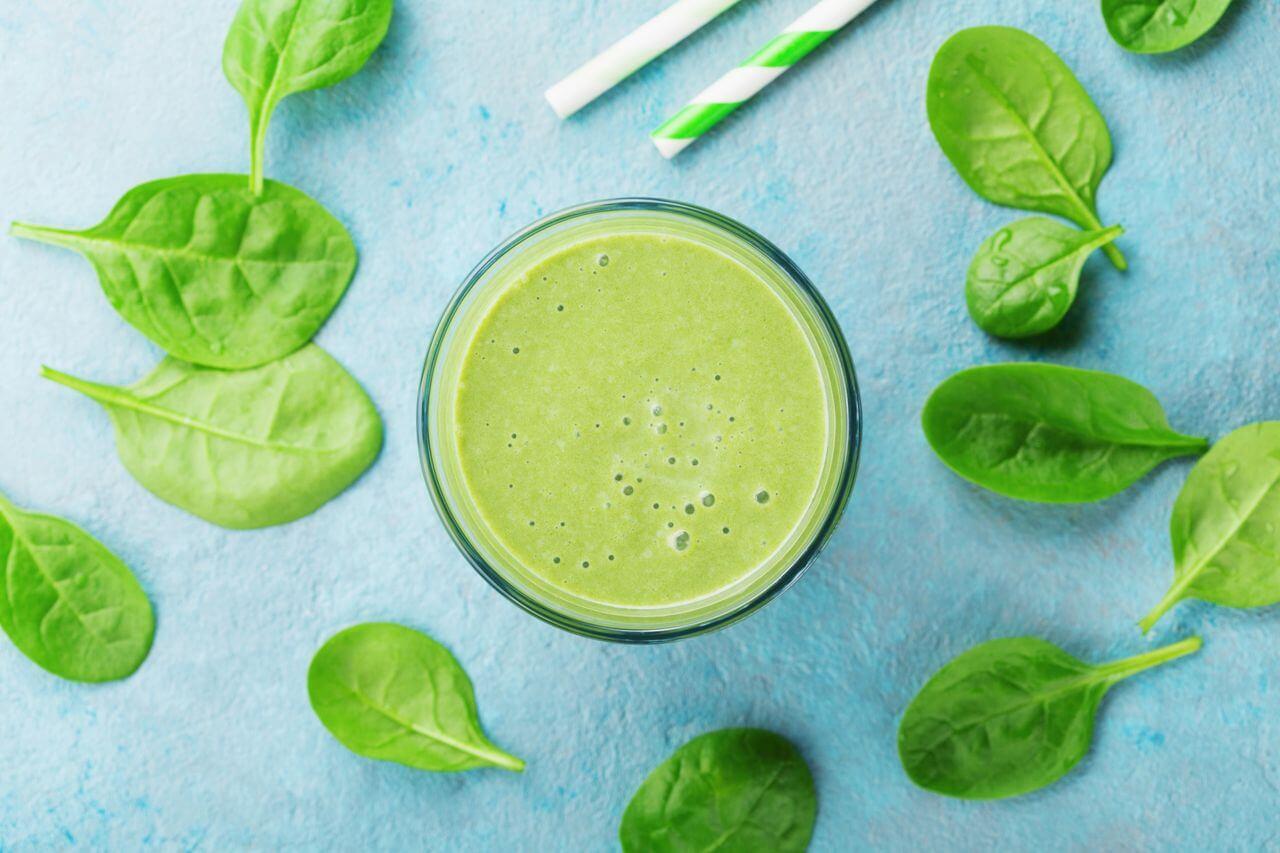 Watermelon Spinach Headache Relief Smoothie