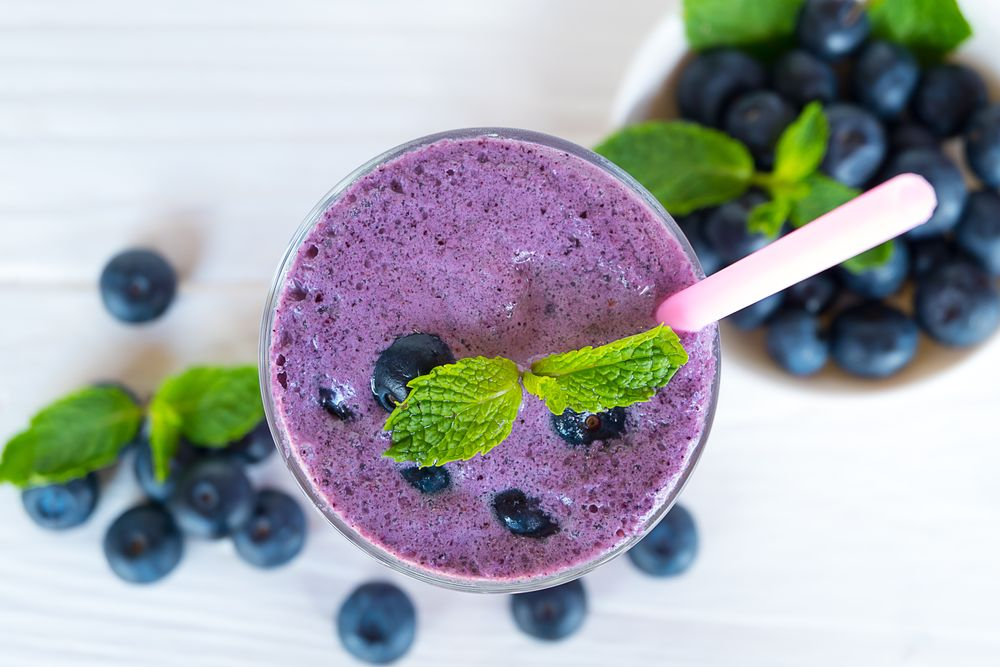 Blueberry Smoothie to Lower High Blood Pressure