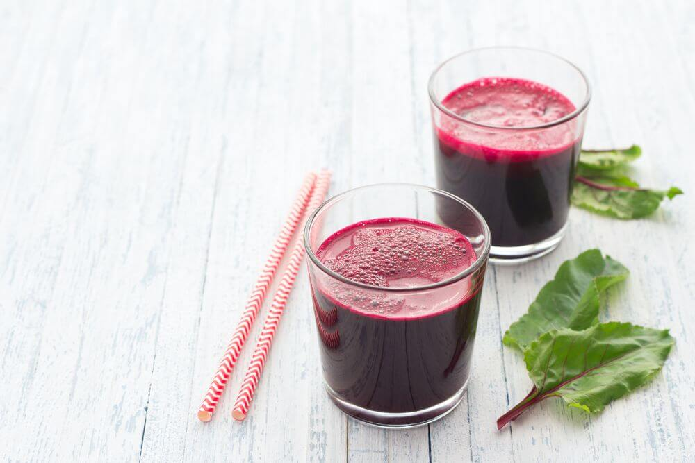 Fresh Spinach Beet Juice