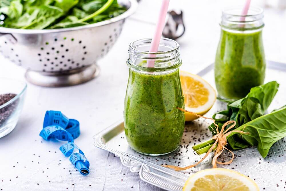 Spinach Smoothie Under 100 Calories