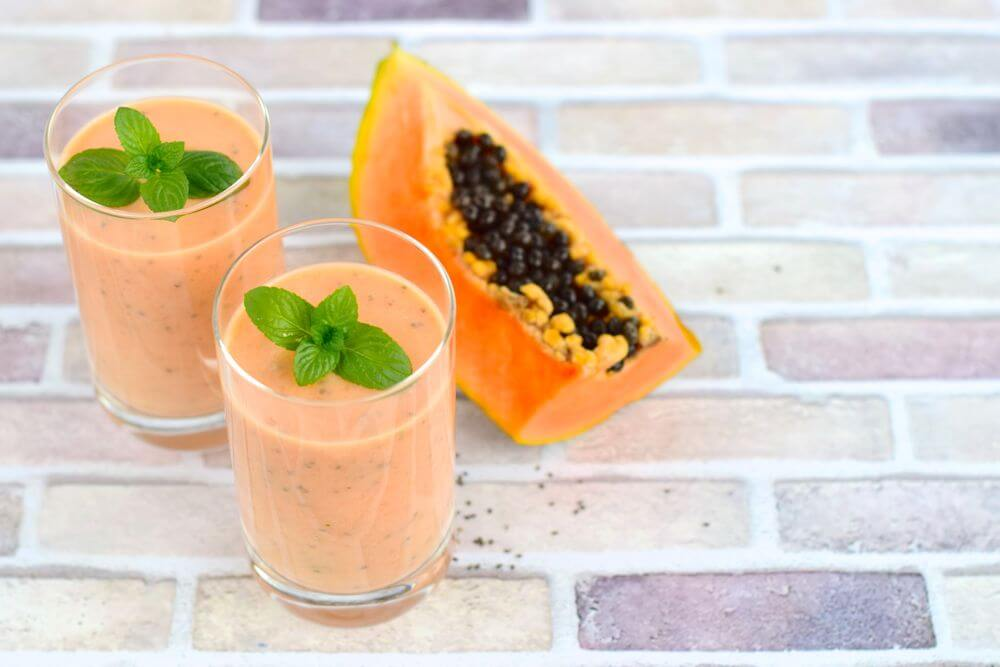 Papaya Oatmeal Smoothie for Weight Loss