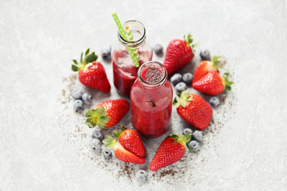 Berry Smoothie on Table