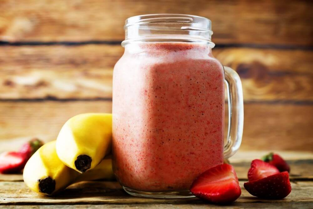 Strawberry Banana Apple Juice Smoothie
